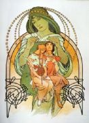 Vintage Art Deco Poster of Three Ladies
